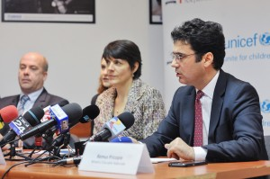 UNICEF Representative and Romanian Minister of Education, Pierre Varly - international expert