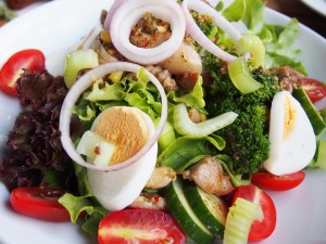 salata cu ou, salata verde