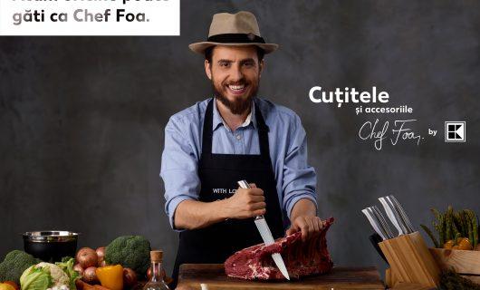 (P) Oricine poate găti precum un chef, cu accesoriile și cuțiteledin linia Chef Foa by Kaufland