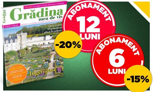 Abonează-te la revista Grădina mea de vis cu până la 20% reducere!