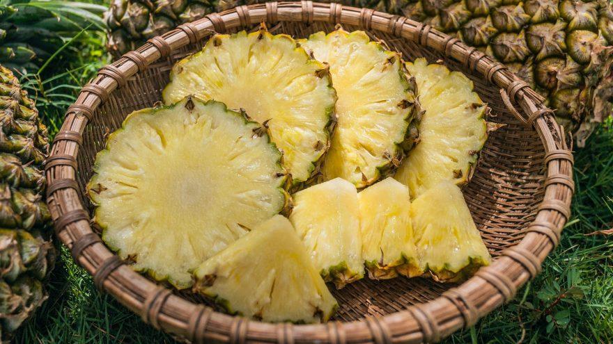 ananas felii in cos d erachita, ananasul